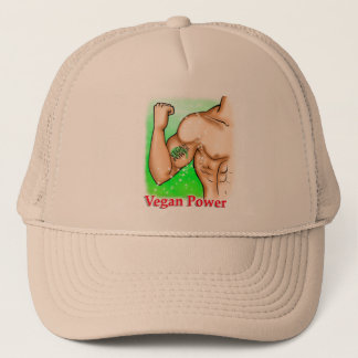 vegan power trucker hat
