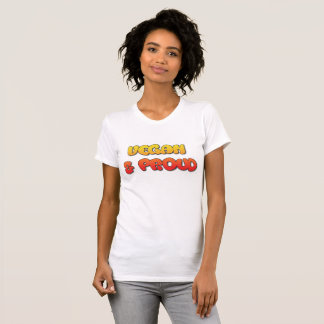 Vegan & Proud Shirt with Cute Bubbly Text