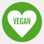 Vegan Safe Culinary Label Classic Round Sticker