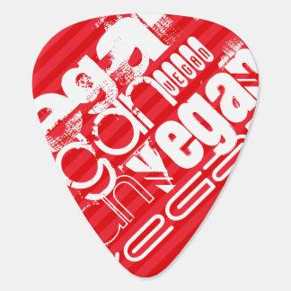 Vegan; Scarlet Red Stripes Guitar Pick