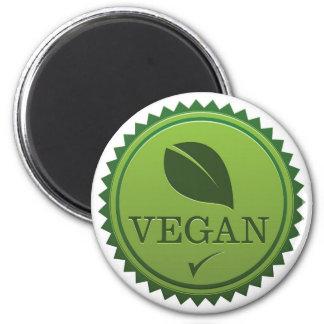 Vegan Seal 6 Cm Round Magnet