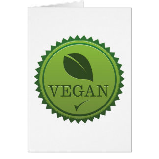 Vegan Seal Card