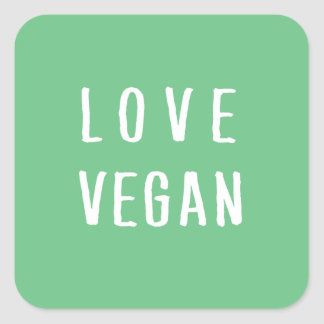 Vegan Square Sticker