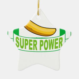 VEGAN SUPER POWER . CERAMIC ORNAMENT