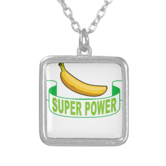 VEGAN SUPER POWER . SILVER PLATED NECKLACE