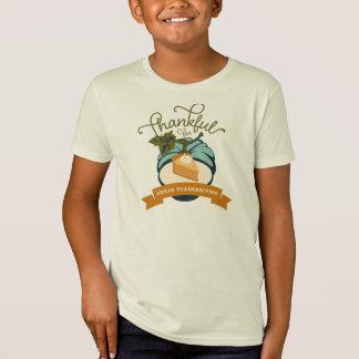 Vegan Thanksgiving Pumpkin Pie - Kids' Organic T Shirt