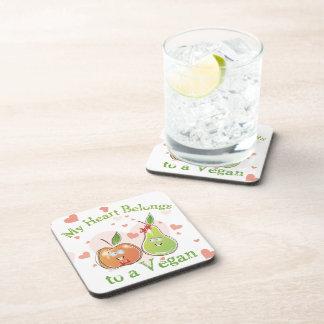 Vegan Valentine Drink Coasters