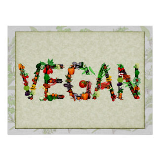 Vegan Vegetables Poster