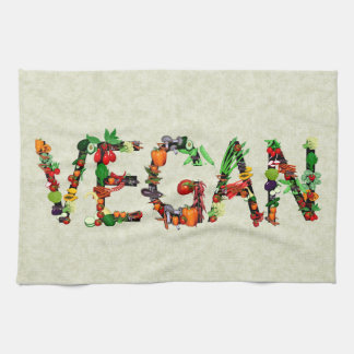 Vegan Vegetables Tea Towel