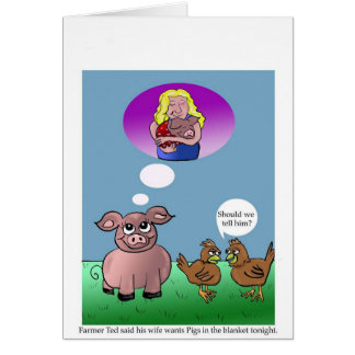 Vegan Vegetarian Humor Blank Card