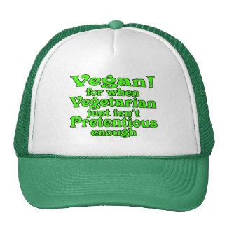 vegan vegetarian humor mesh hats