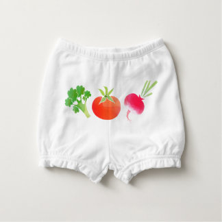 Vegan veggies baby nappy cover