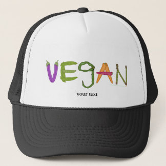 Vegan Veggies Vegetable Lovers Trucker Hat