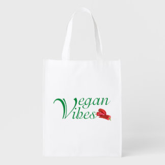 Vegan vibes reusable grocery bag
