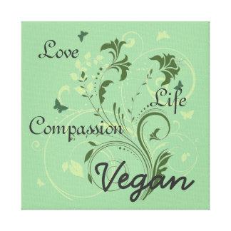 Vegan wall art canvas print