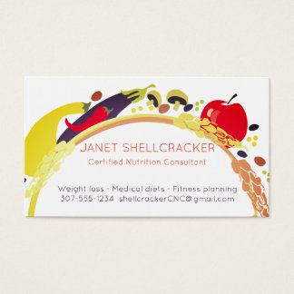 Vegan wheat vegetables chef catering business card