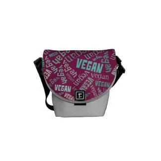"""Vegan"" Word-Cloud Mosaic Commuter Bags"