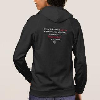 """""""Vegan"""" Word-Cloud Mosaic Heart & Quote (black) Hoodie"""
