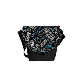 """Vegan"" Word-Cloud Mosaic Courier Bags"