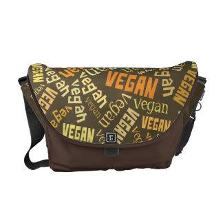 """Vegan"" Word-Cloud Mosaic Courier Bag"