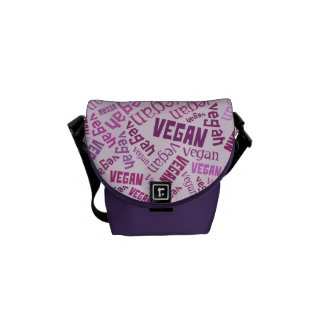 """Vegan"" Word-Cloud Mosaic Commuter Bag"