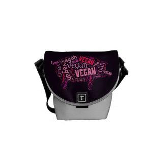 """Vegan"" Word-Cloud Mosaic (Pig) Courier Bags"