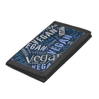 """""""Vegan"""" Word-Cloud Mosaic Wallet"""