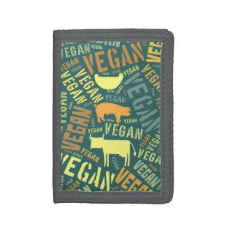 """""""Vegan"""" Word-Cloud with Cow, Pig, & Hen Wallet"""