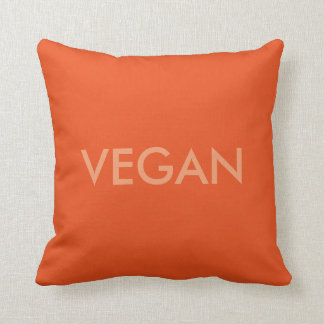 Vegan words cushion