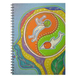 vegan yin yang notebook