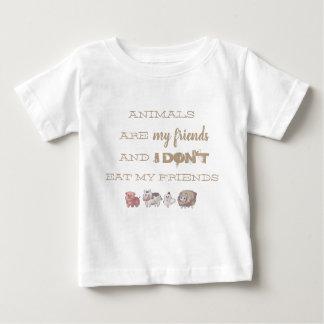 Vegana t-shirt - Animals ploughs my friends