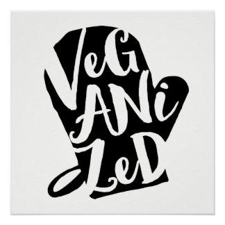 Veganized Vegan Custom Background Color Poster