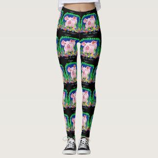 Vegans make me happy leggings
