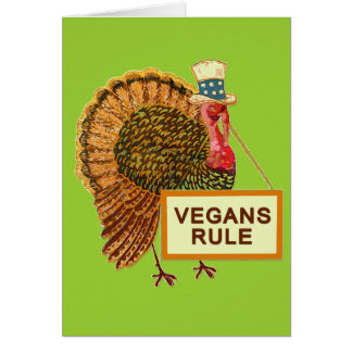 Vegans Rule Turkey Humor for Thanksgiving Card