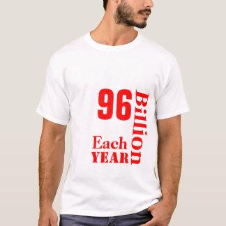 VEGANS, SAVE, 96, Billion, Lives, Each, Year T-Shirt