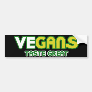 Vegans Taste Great Parody Bumper Sticker