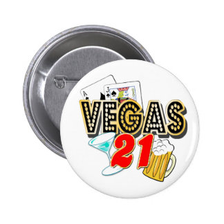 Vegas 21st Birthday 6 Cm Round Badge