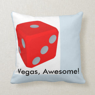 Vegas, Awesome!/ Dice Throw Pillow