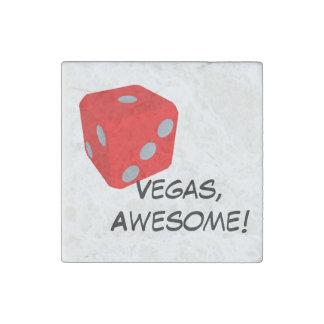 Vegas, Awesome! Quote/ Dice Magnet Stone Magnet