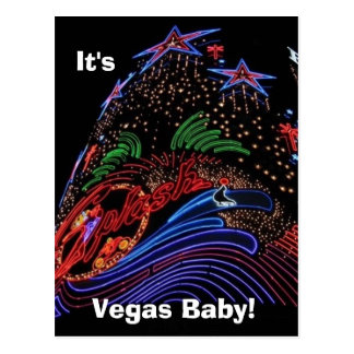 Vegas Baby! post card