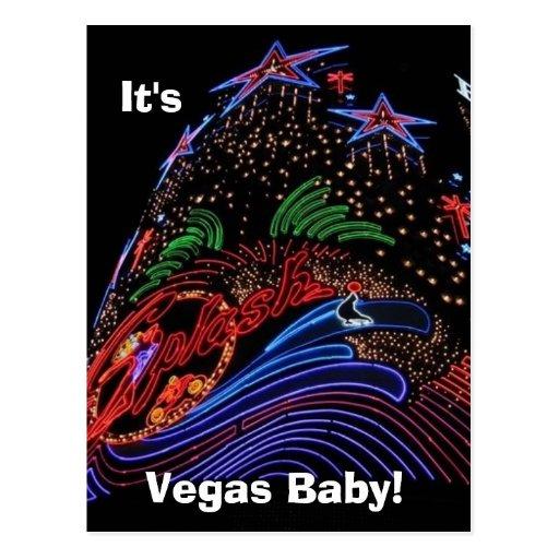 Vegas Baby! post card