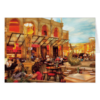 Vegas - Cesar's - Lunch in Italy Greeting Card