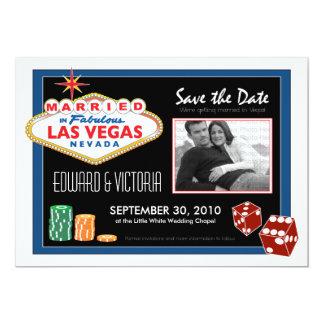Vegas Destination Wedding Save the Date Invitation