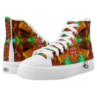 Vegas Frog Fairytale Art Pattern by Deprise High Tops