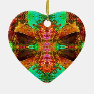 Vegas Frog Pattern by Deprise Ceramic Heart Decoration