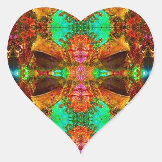 Vegas Frog Pattern by Deprise Heart Sticker