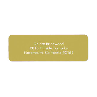 Vegas Gold Contemporary Solid Color Return Address Label