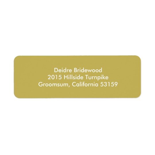 Vegas Gold Contemporary Solid Colour Return Address Label