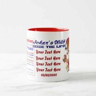 Vegas Joker's Wild View About Design below Mug