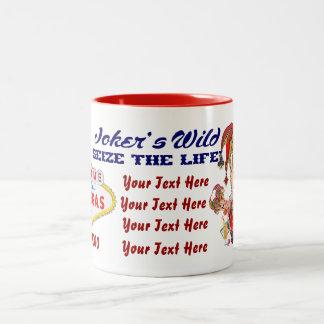 Vegas Joker's Wild View About Design below Two-Tone Mug
